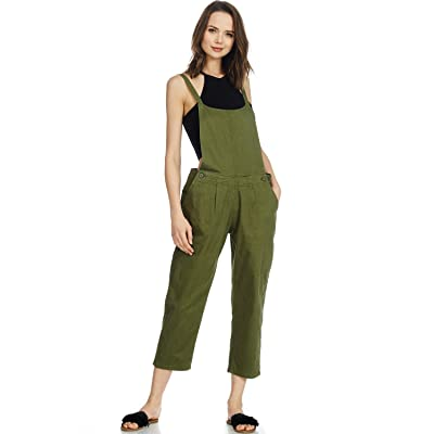 Abetteric Womens Loose Long Sleeves Button Up Jumpsuit with Pockets