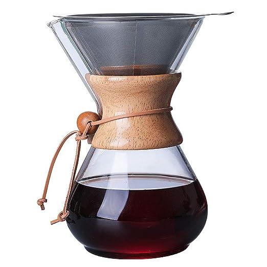 REMIGHTELY BRIGHT Cafetera de Vidrio-Desbloqueo de Sabor con ...