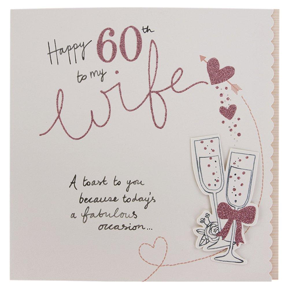 Hallmark 60th Birthday Card For Wife Sparkling Celebration – Wife 60th Birthday Card