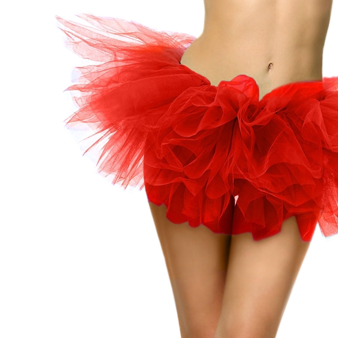 Slocyclub Adult Tutu Skirt Ladies Short Ballet Dance Dress 5 Layers colorful Puff Skirts by Slocyclub (Image #3)