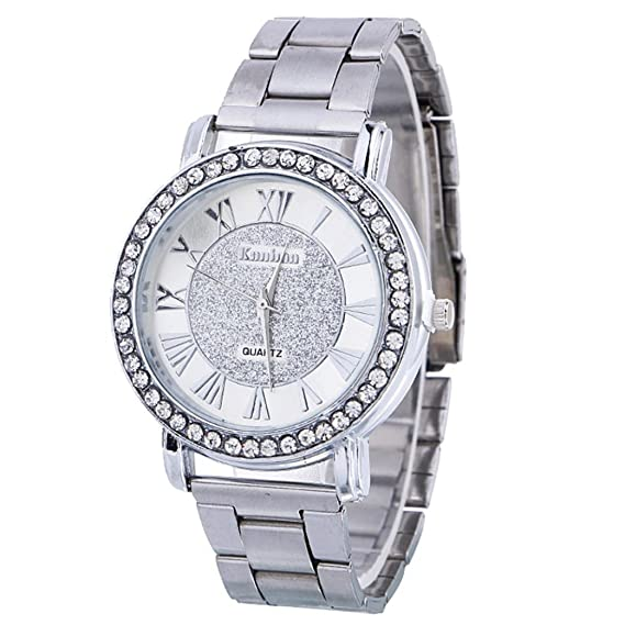 Amazon.com: Becoler Stainless Steel Wrist Hour Dial Watch for Women Mens: Watches