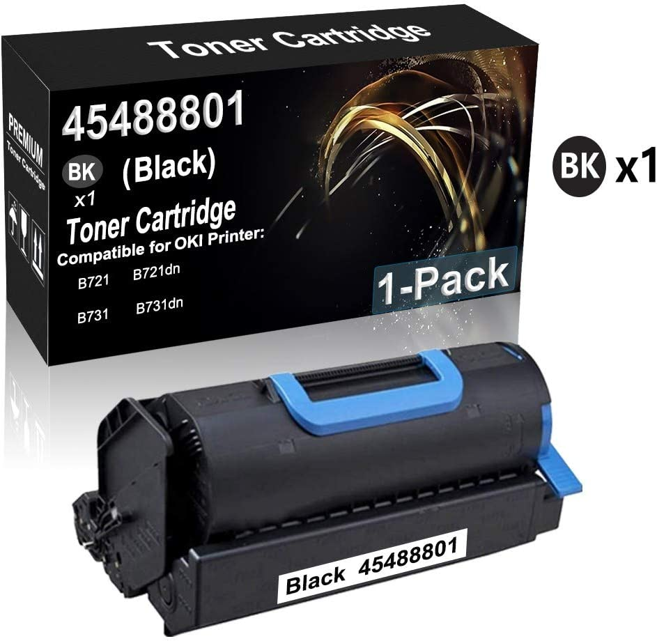 Smart Print Supplies Compatible 45488801 Black Toner Cartridge Replacement for Okidata B721 B731 Printers 18,000 Pages