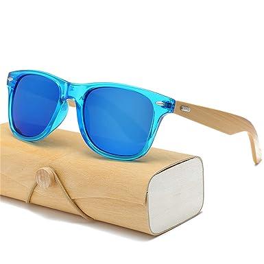 AOCCK Gafas de sol Wood Sunglasses Men Women Square Bamboo ...