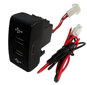 AERZETIX: Enchufe modulo doble USB 5V cargador para salpicadero C16996
