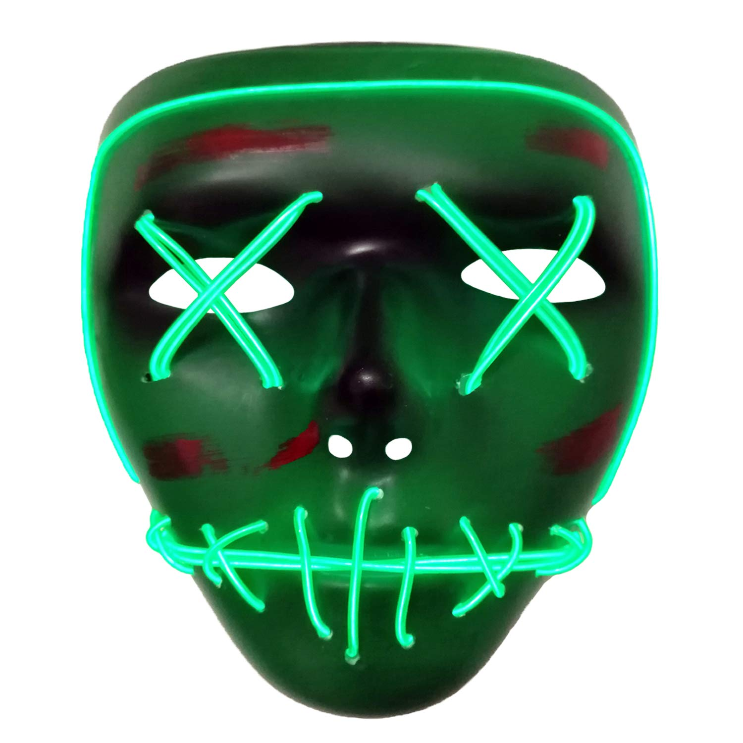 AUHOO Halloween Masks for Kids Light up Purge Mask LED Power Mask Scary Mask Rave Halloween Costumes