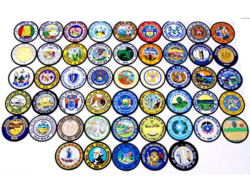 United States State Seal Patch Set!! 50 State Seal Patches, Each 3