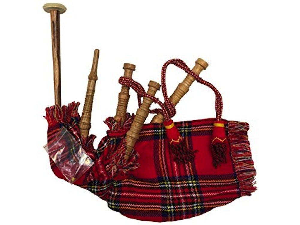 Innes & Corbata escocesa Junior reproducible rojo tartán Bagpipes ...