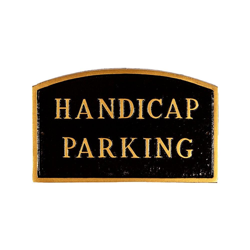 モンタギュー金属製品Handicap駐車場アーチ型Wall Plaque S ブラック SP-15sm-BG B00HRSMNYO S|ブラック ブラック S