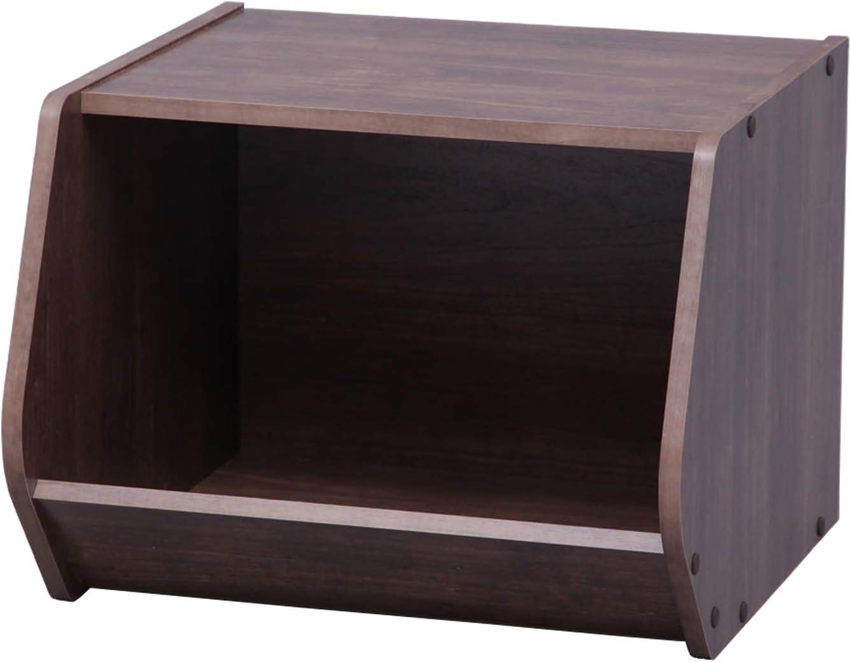 Roble claro Caja de almacenamiento apilable de madera modular STB-400T Movian Estante // unidad de almacenamiento apilable 3 pisos en madera Marca 40 x 28,7 x 30,5 cm de ancho