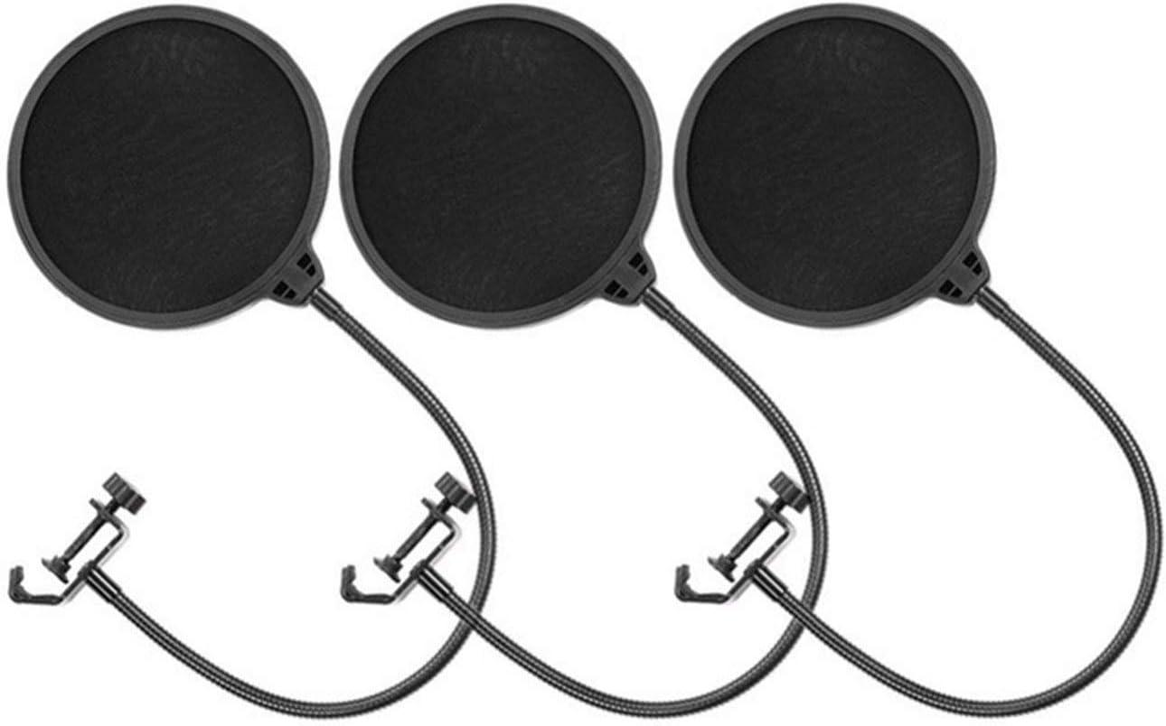 prevenci/ón de reventones de 1 Pieza Anti-Spray Red Ballylelly Filtro Pop para micr/ófono Yeti Anti-Agua Accesorio de Piezas de Audio Profesional