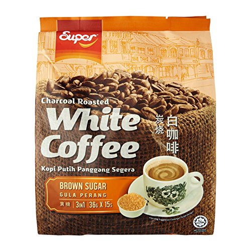 - Super Brand / Charcoal Roasted White Coffee With Brown Sugar / Caramelic Coffee Indulgence / Strong Rich Flavorful Caramel With Brown Sugar (15s x 36g)