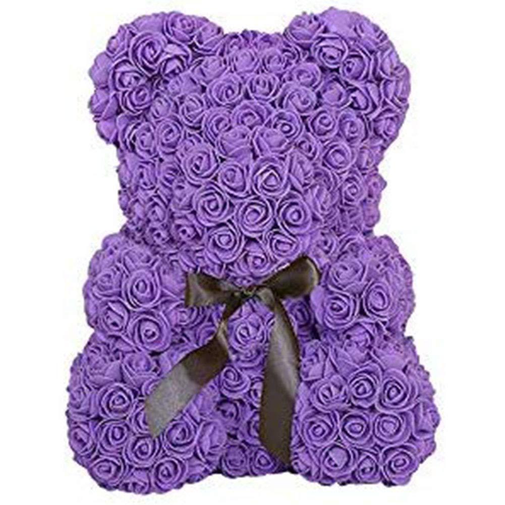 violet  YARDBEAR Rose Bear, Bears Bear Toys Creative Rose Artificielle Bear Valentin Cadeau créatif nouveauté Rose Bear Bternal Fleur Creative, boîte Cadeau 40cm