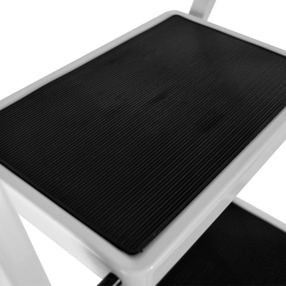 port/átil con antideslizante Mat Casa de descuento/® 4/paso escalera acero resistente plegable