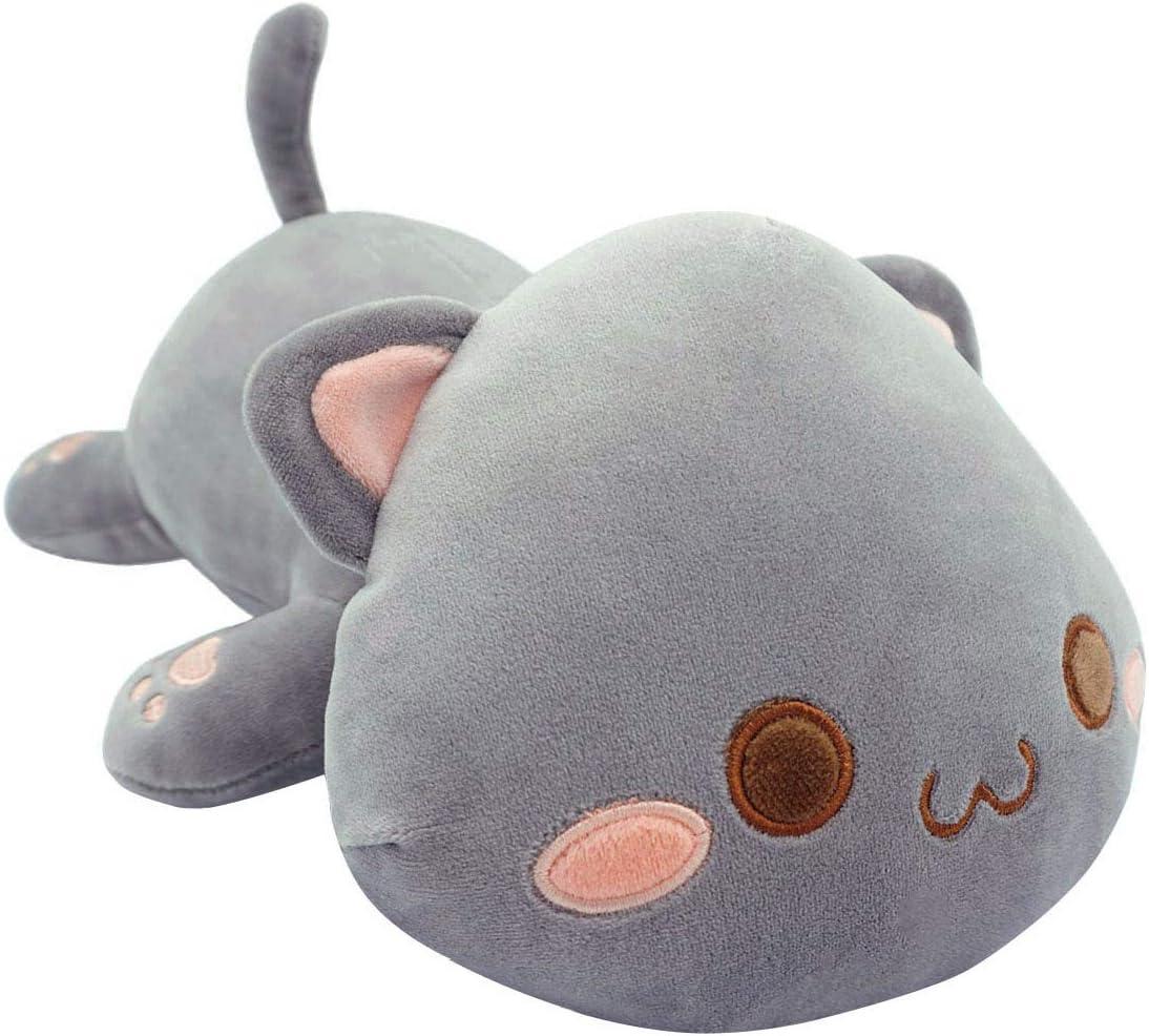 Giant Shark Plush, Cute Kitten Plush Toy Stuffed Animal Pet Kitty Soft Anime Cat Plush Pillow For Kids Gray A 12 Pillows Amazon Canada