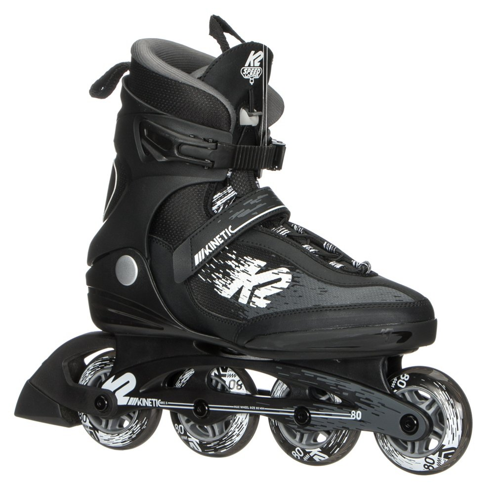 K2 Skate Men's Kinetic 80 Pro Inline Skate, Black White, 8.5