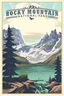 product image for Rocky Mountain National Park, Colorado - Lake - Lithograph 89047 (24x36 SIGNED Print Master Art Print - Wall Decor Poster)