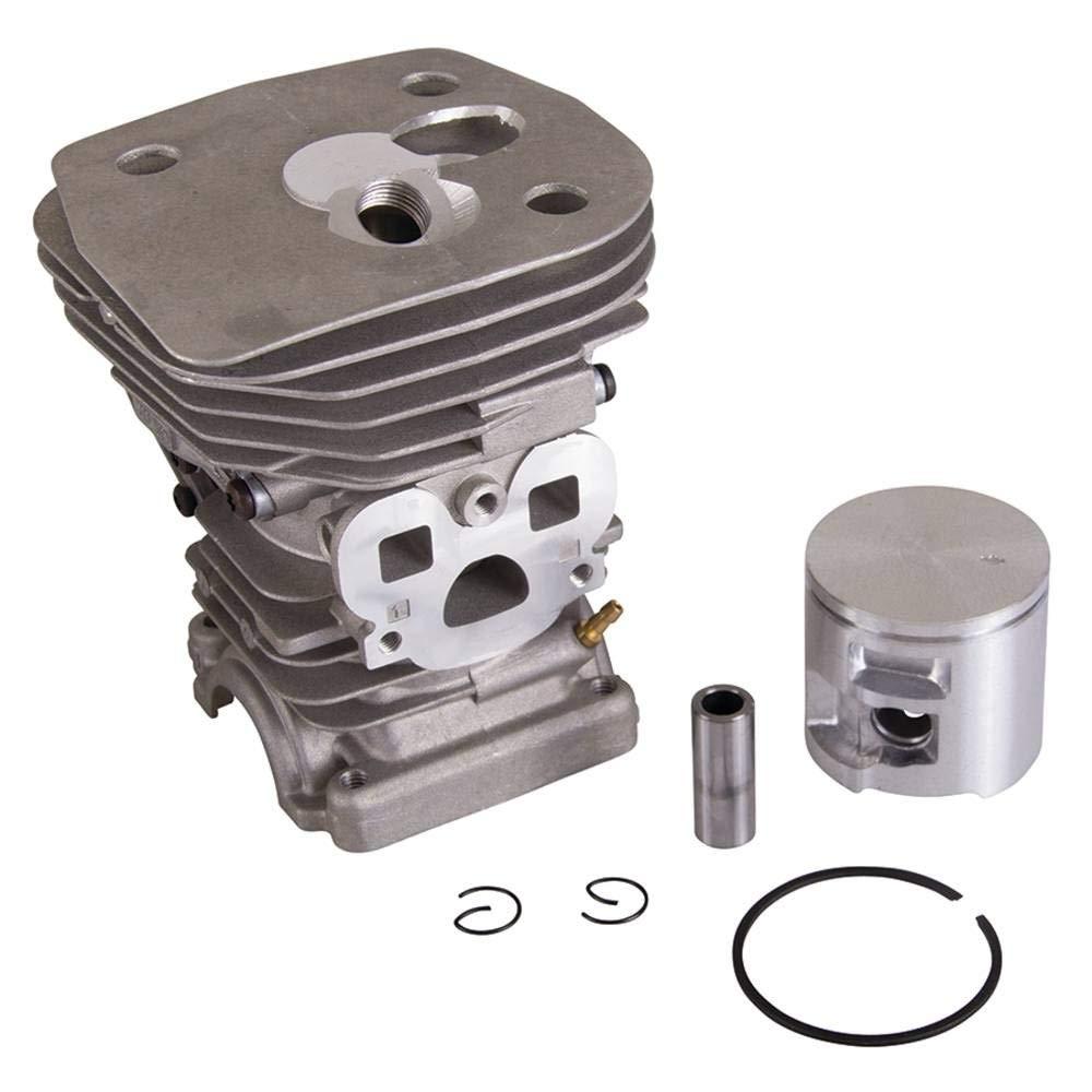 New Cylinder Spark Plug Kit Fits Husqvarna 455 460 47mm Piston Rings Clips