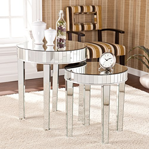 Harper Blvd Tifton Round Mirrored Nesting Accent Table 2pc Set by Generic
