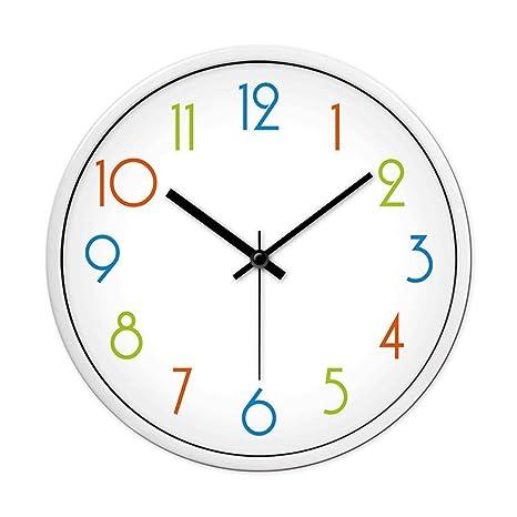 Reloj de pared digital minimalista del dormitorio de la sala de estar, reloj de cuarzo