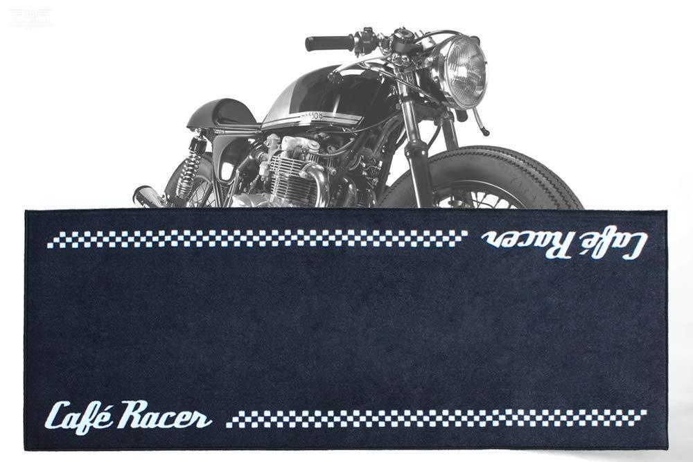 Biketek GRGMAT53 Moto S/érie 3 Caf/é Racer Tapis de garage en fibre de nylon durable 190X80CM