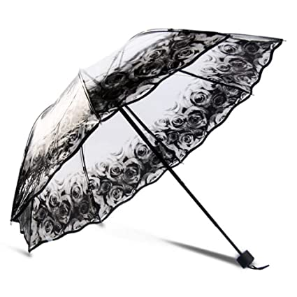 f562670c7997 Amazon.com: SMSHNJH Nice Weatherproof Umbrella Folding Clear ...