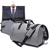 AORAEM Garment Bag with Shoulder Strap, Carry On Duffel Suitcase Suit Travel Business Bags for Men with Shoe Pouch - Grey