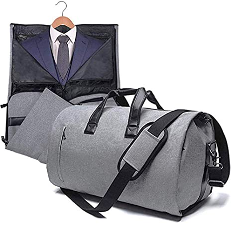 AORAEM Suit Travel Bag Carrier Luggage Cover Duffel Bag for Men Women  Overnight Weekend Flight Bag with Shoe Pouch Garment Flight Gym Bag - Grey   Amazon.ca  ... dac41336b91f2