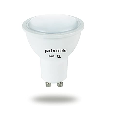 Bombilla LED GU10 paul russells focos blanco frío 4000 K, 4 W equivalente a 40