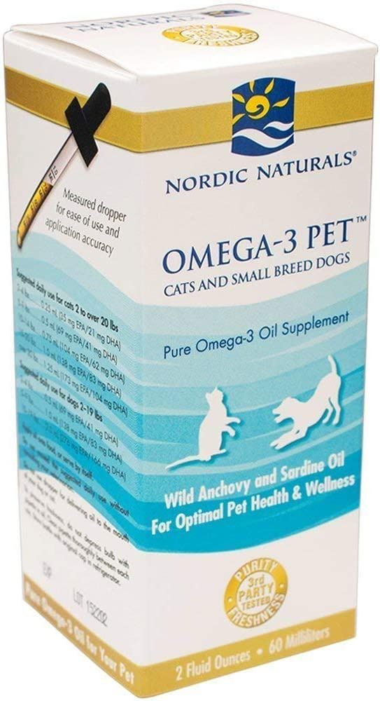 Nordic Naturals – Omega-3 Pet Cats and Small Breed Dogs – 2oz 2 Pack