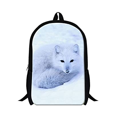 Creativebags Teenagers Kids Satchel School Backpack Travel Bags Animal Fox 3D Design printing 16 Inch by CreativeBags