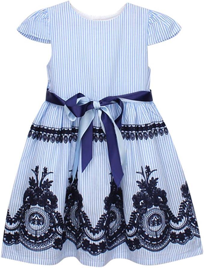 JQjian Flower Girl Dress Girls Elegant Lace Tulle Baptism Wedding Princess Party Dresses
