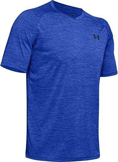 Emotion Blue X-Small Under Armour Mens Tech 2.0 Long-Sleeve T-Shirt 401 //Black