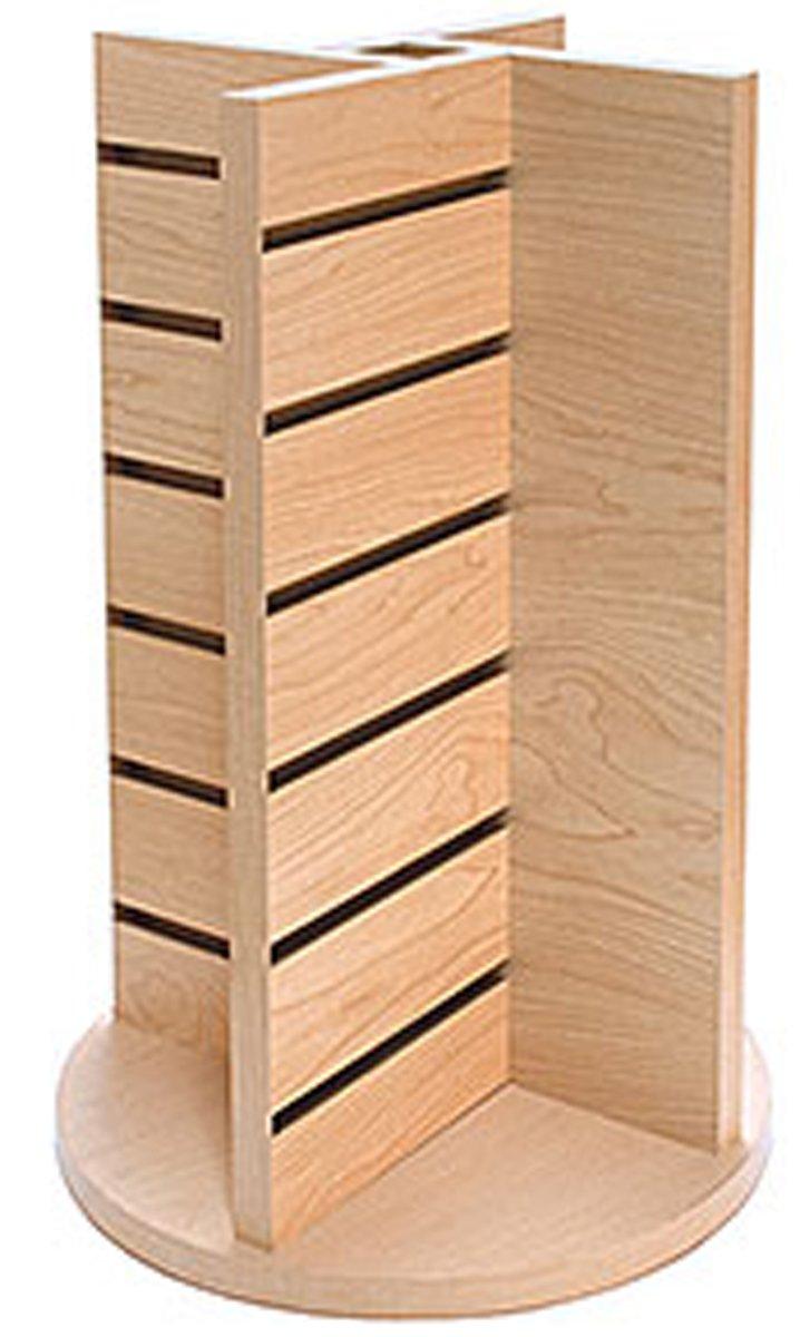Countertop Spinner Merchandiser 4-Way Display Retail Store Fixtures Maple NEW