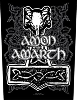 XLG Amon Amarth Odin Back Patch Swedish Death Metal Music Band Sew On Applique