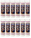 Guardian Angel Religious Candle, Devotional, Vigil, Novena, Prayer, Saints, Candles, White, 12pk (1 Cases)