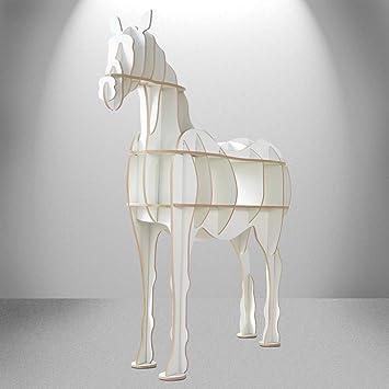 ADM Horse Furniture 3D puzzle in MDF white colour representing a