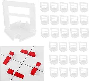 herramientas de construcci/ón reutilizables suelos Juego de 50 niveladores de azulejos con llave especial de nivelaci/ón de baldosas para edificios de paredes DQTYE