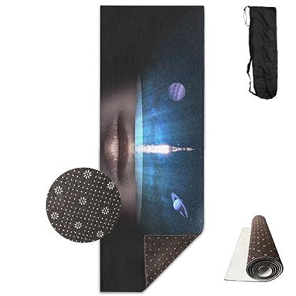 Amazon.com: Space White Rocket Launch Yoga Mat - Advanced ...