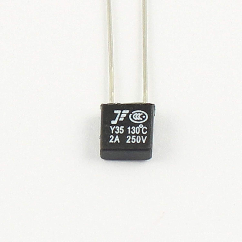 10pcs of New RH 130C Thermal Fuse 2A 250V