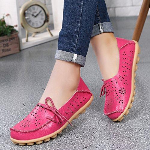 VenusCelia Damen Atmungsaktiver Walking Flat Loafer Fushia / Rosiness