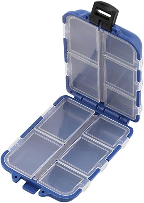 Togames-ES 10 Compartimentos Caja de Almacenamiento Caja Pesca con ...