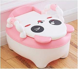 Zcthk Toilette en Forme de Panda avec accoudoir Rotatif Siège antidérapant Mat Siège de Formation pour la Toilette adapté aux Jeunes Enfants avec Brosse et Coussin Moelleux,Blue