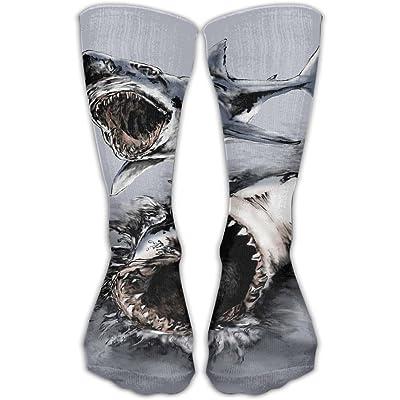 YUANSHAN Socks Great White Shark Women & Men Socks Soccer Sock Sport Tube Stockings Length 11.8Inch