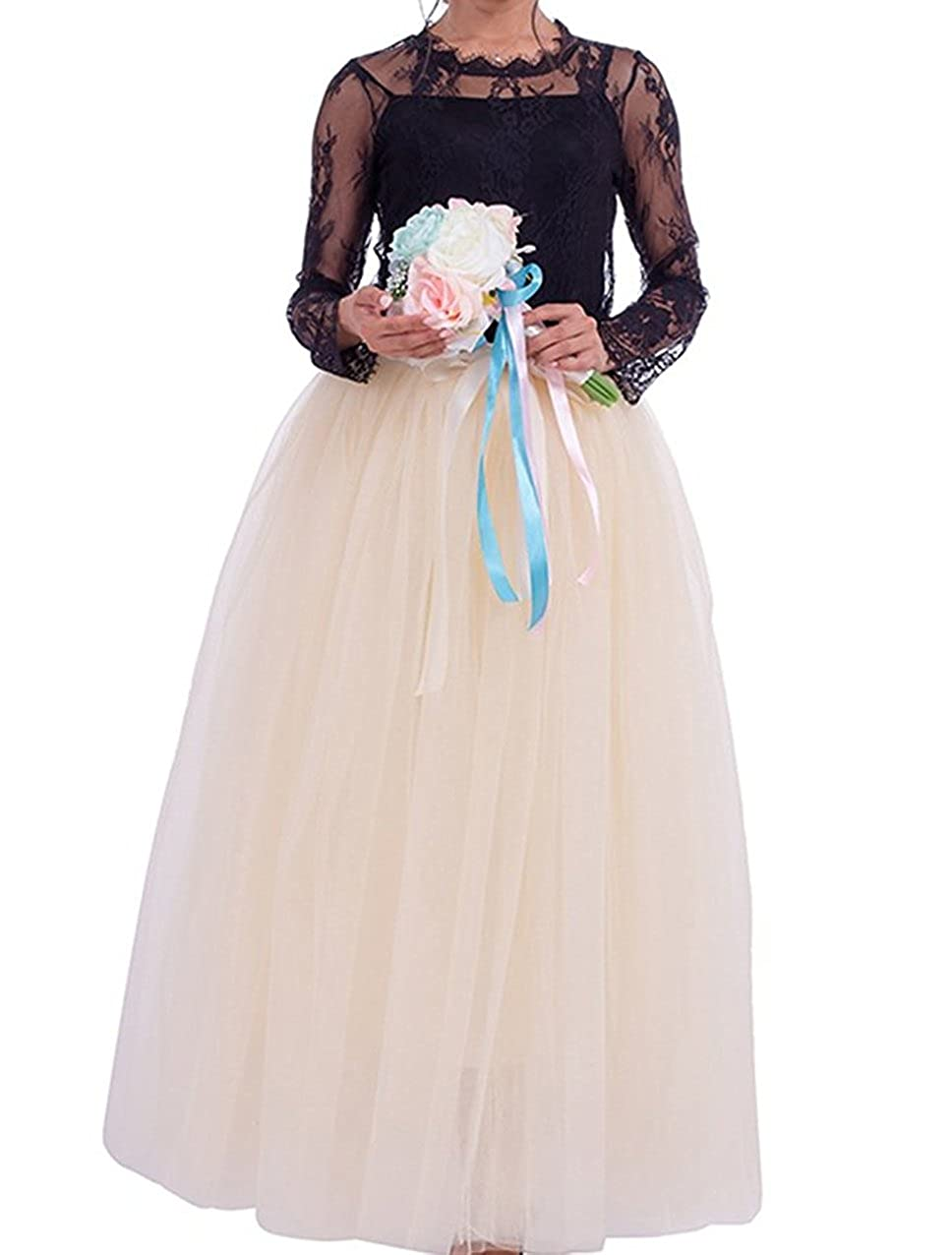 ca25f44c6 ... Women Floor Length Long Pleated Tutu Skirt For Ball Gown Wedding Party  Prom Dress. Wholesale Price:35.99. Handmade with high quality tulle fabric  ( 6 ...