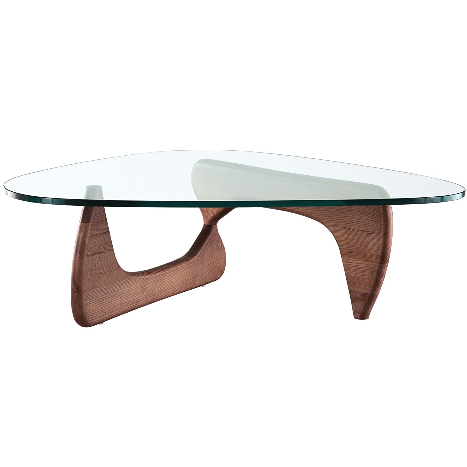 amazon com modway triangle coffee table in walnut kitchen dining