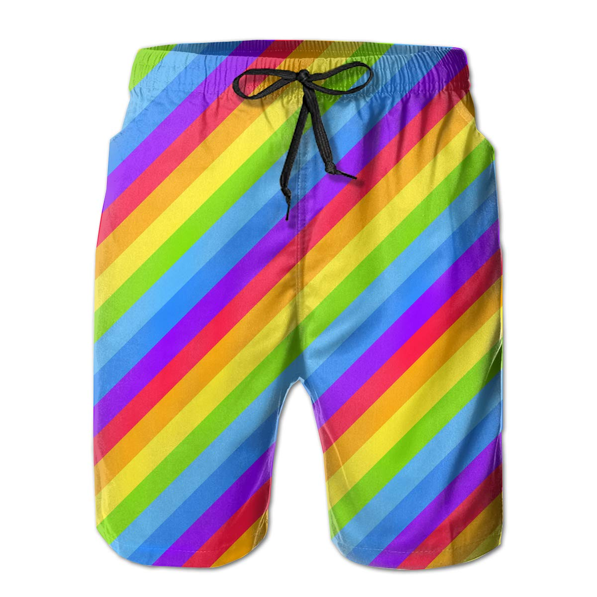 UHT28DG Geometric LGBT Flag Pattern Mens Board//Beach Shorts Fashion Swimming Shorts