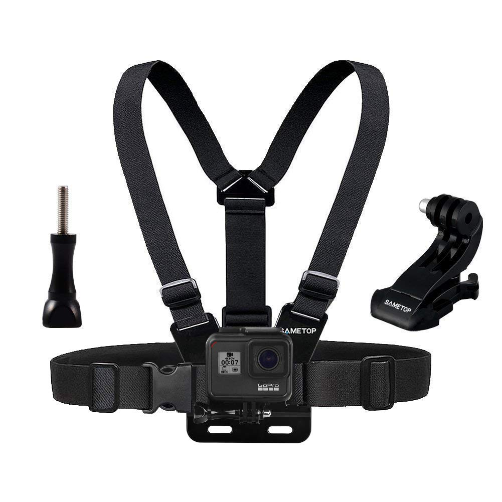 2018 6 2 1 Cameras Hero 7 3 Sametop Chest Mount Harness Chesty Head Mount Strap Kit Compatible with GoPro Hero 5 Fusion Session 3+ 4