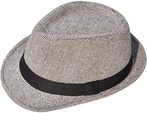 (Jasmine Mens Felt Fedora Hat Unisex Classic Manhattan Indiana Jones Hats)
