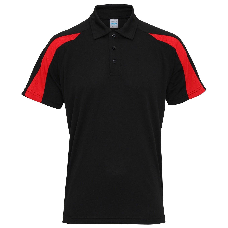 43adcbefbbd9 AWDis Just Cool Herren Kurzarm Polo Shirt mit Kontrast Panel  Amazon.de   Bekleidung