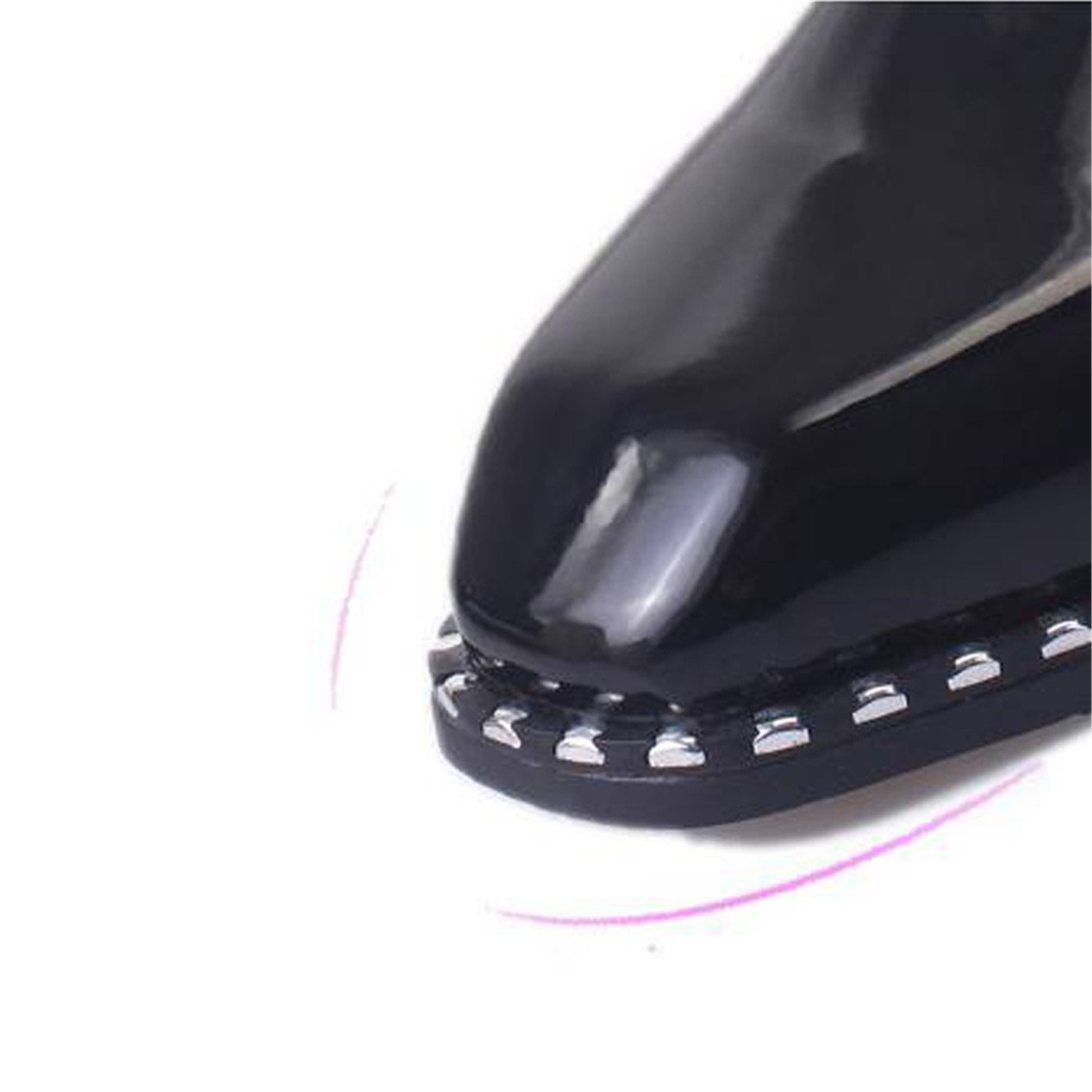 Amazon.com | Baqijian Style Women Shoes Woman Oxford Patent Leather Casual Shoes Female Square Toe Lace Up Shoes Sapatos | Oxfords